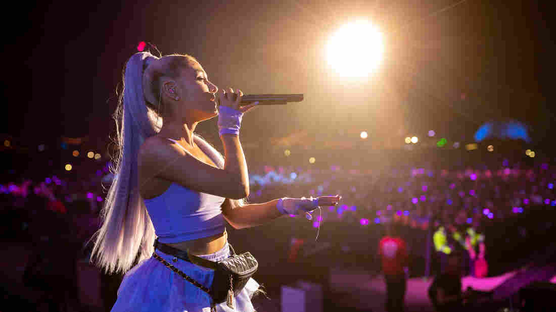 INDIO, CA - APRIL 20: Ariana Grande performs with Kygo onstage during the 2018 Coachella Valley Music And Arts Festival at the Empire Polo Field on April 20, 2018 in Indio, California.