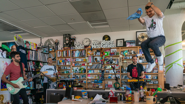 47SOUL plays a Tiny Desk Concert on July 1, 2019 (Bob Boilen/NPR).