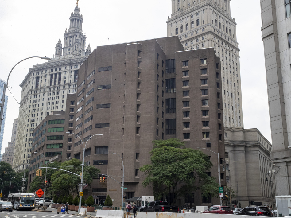 The Metropolitan Correctional Center in New York where Jeffrey Epstein took his own life. The Justice Department revealed that a psychologist had approved removing him from a suicide watch. (Mary Altaffer/AP)