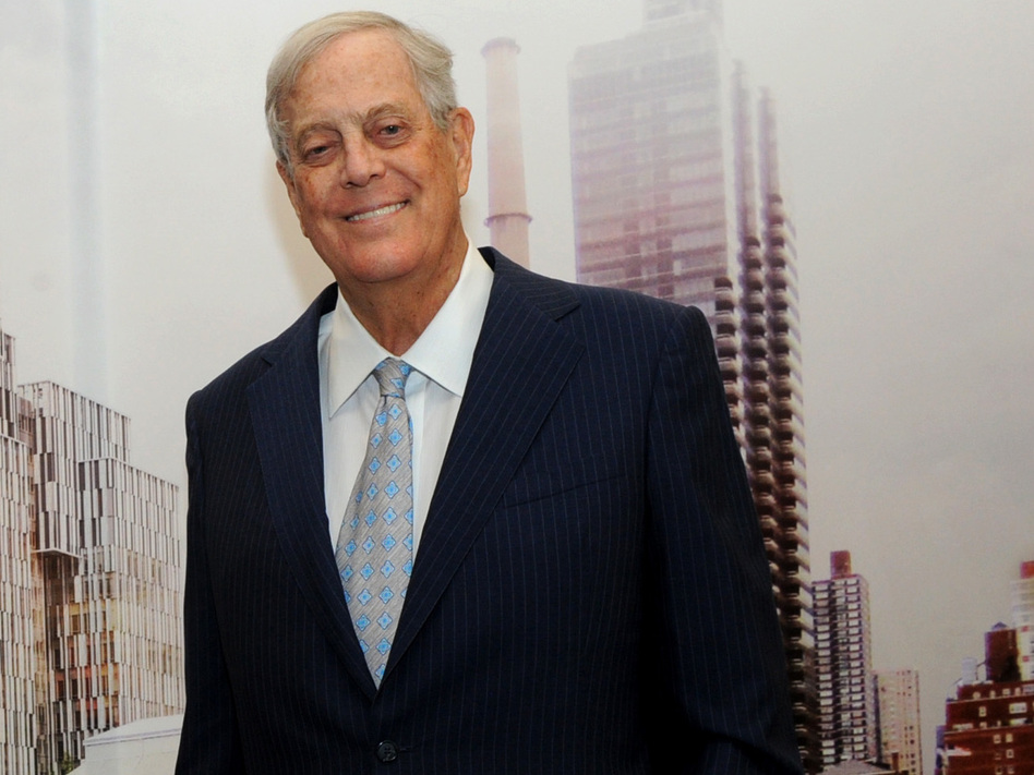 David Koch underwrote both old-fashioned charitable causes, such as the David H. Koch Center for Cancer Care, and the conservative movement, reshaping U.S. politics. (Diane Bondareff/Invision for Koch Industries/AP)