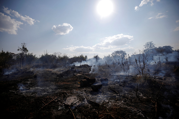 A view of the devastation caused by a fire during the dry season in Brasilia, Brazil, on Wednesday.