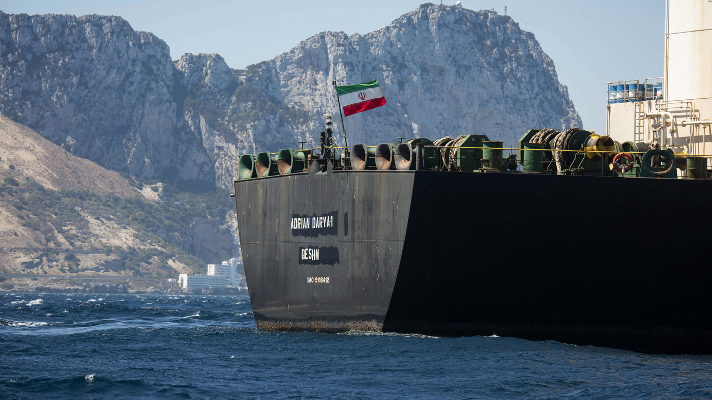 Iranian Oil Tanker Leaves Gibraltar, Despite U.S. Efforts To Keep It Detained