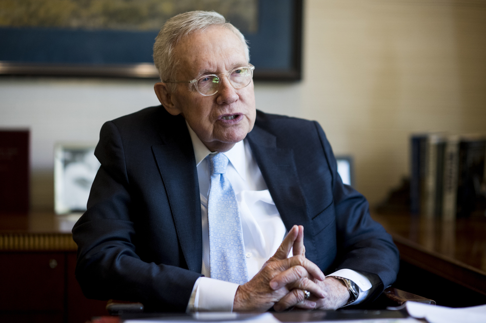 """The filibuster has been used as a weapon to just have the Senate do nothing,"" former Senate Majority Leader Harry Reid, D-Nev., told NPR. (Bill Clark/CQ-Roll Call)"
