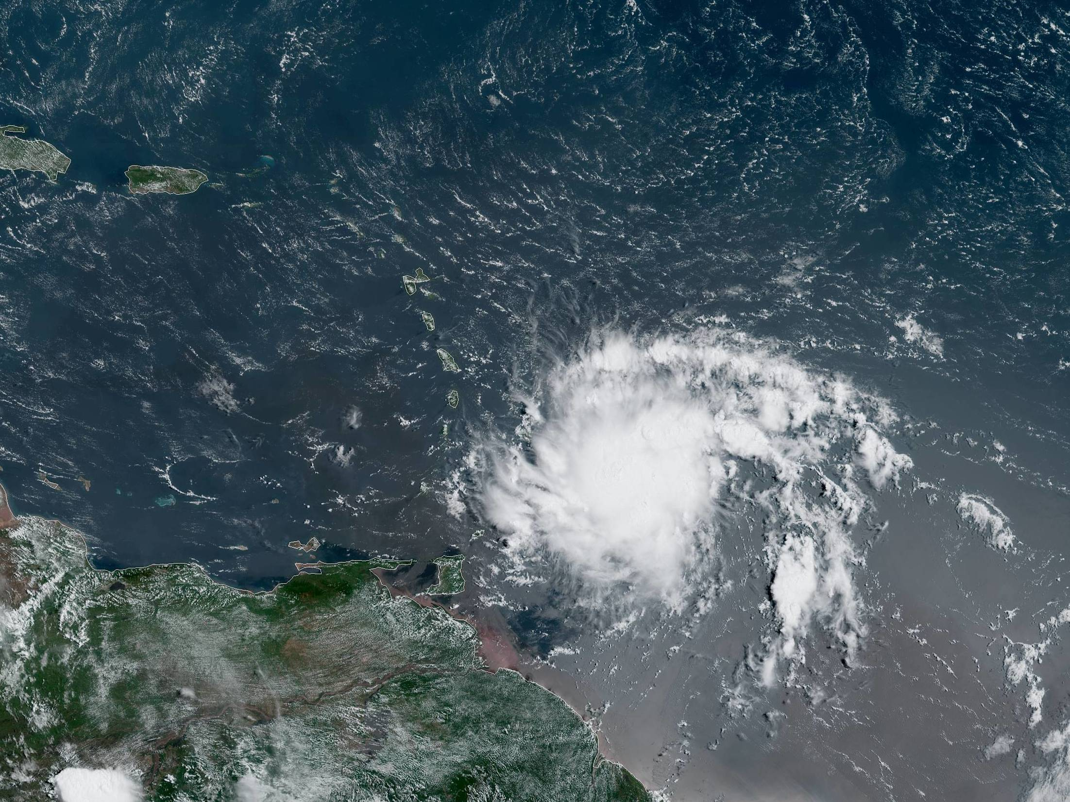 Tropical Storm Dorian Menaces Barbados, Could Become A ...