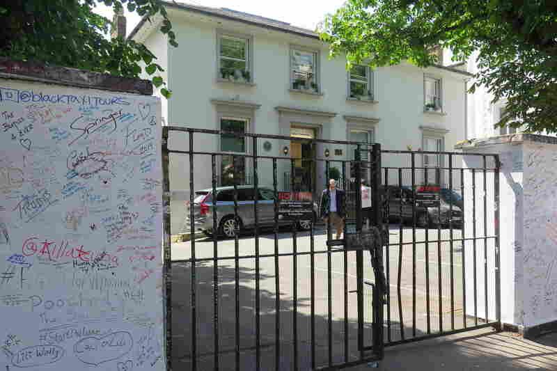 Outside Abbey Road Studios.