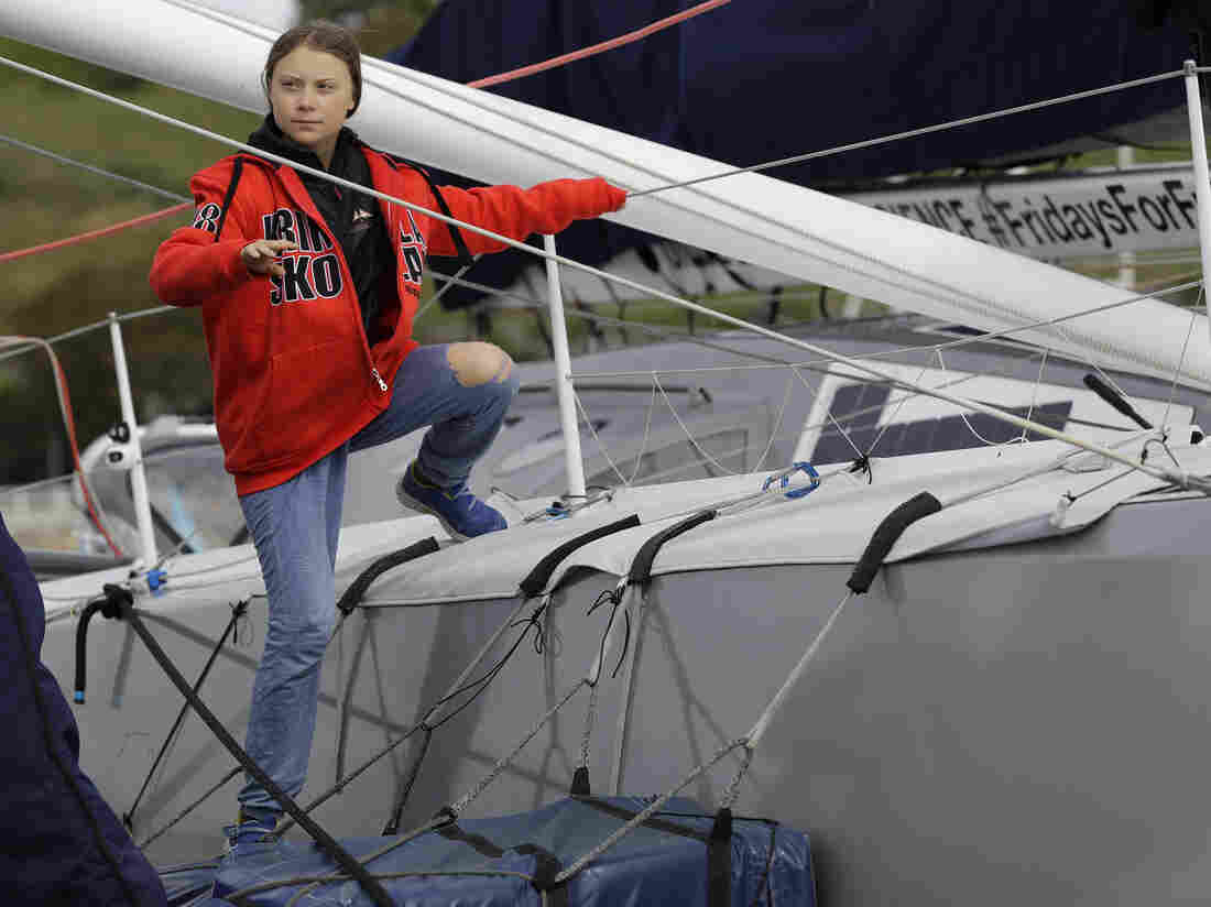 Campaigner Greta completes ocean crossing to take climate message to US