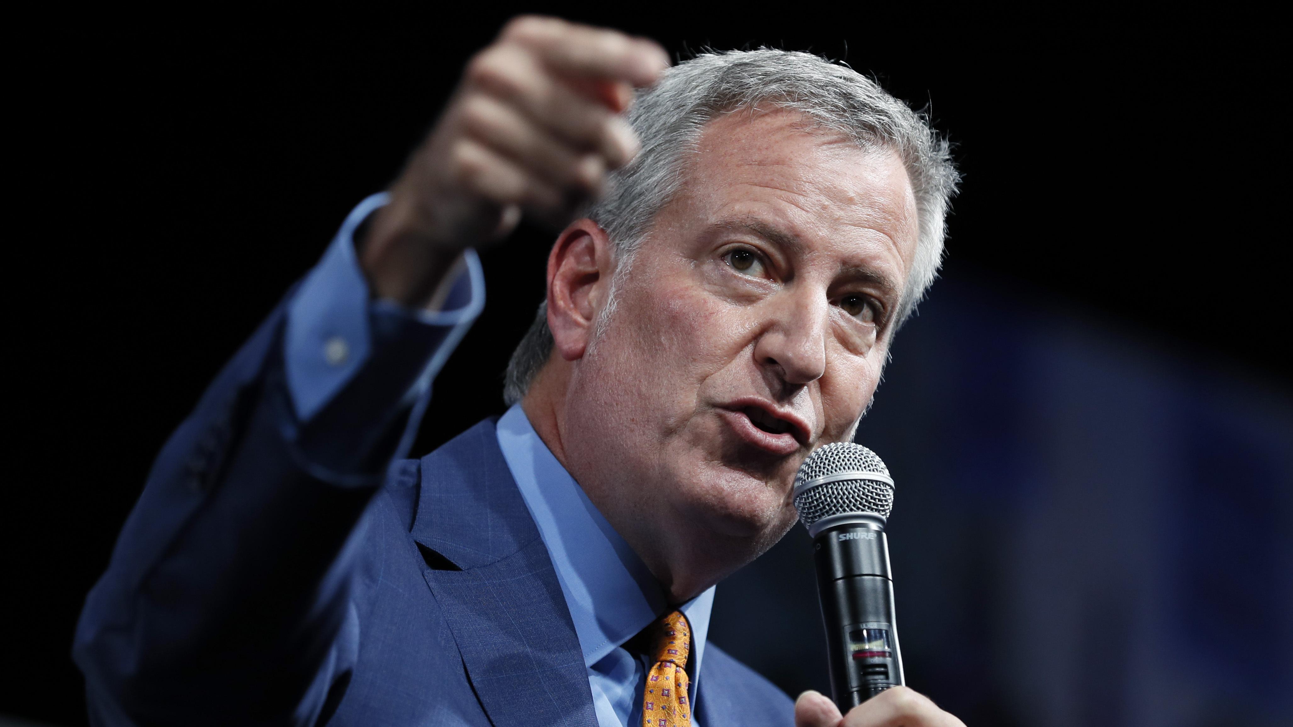 New York City Mayor Bill de Blasio Ends 2020 Presidential Bid