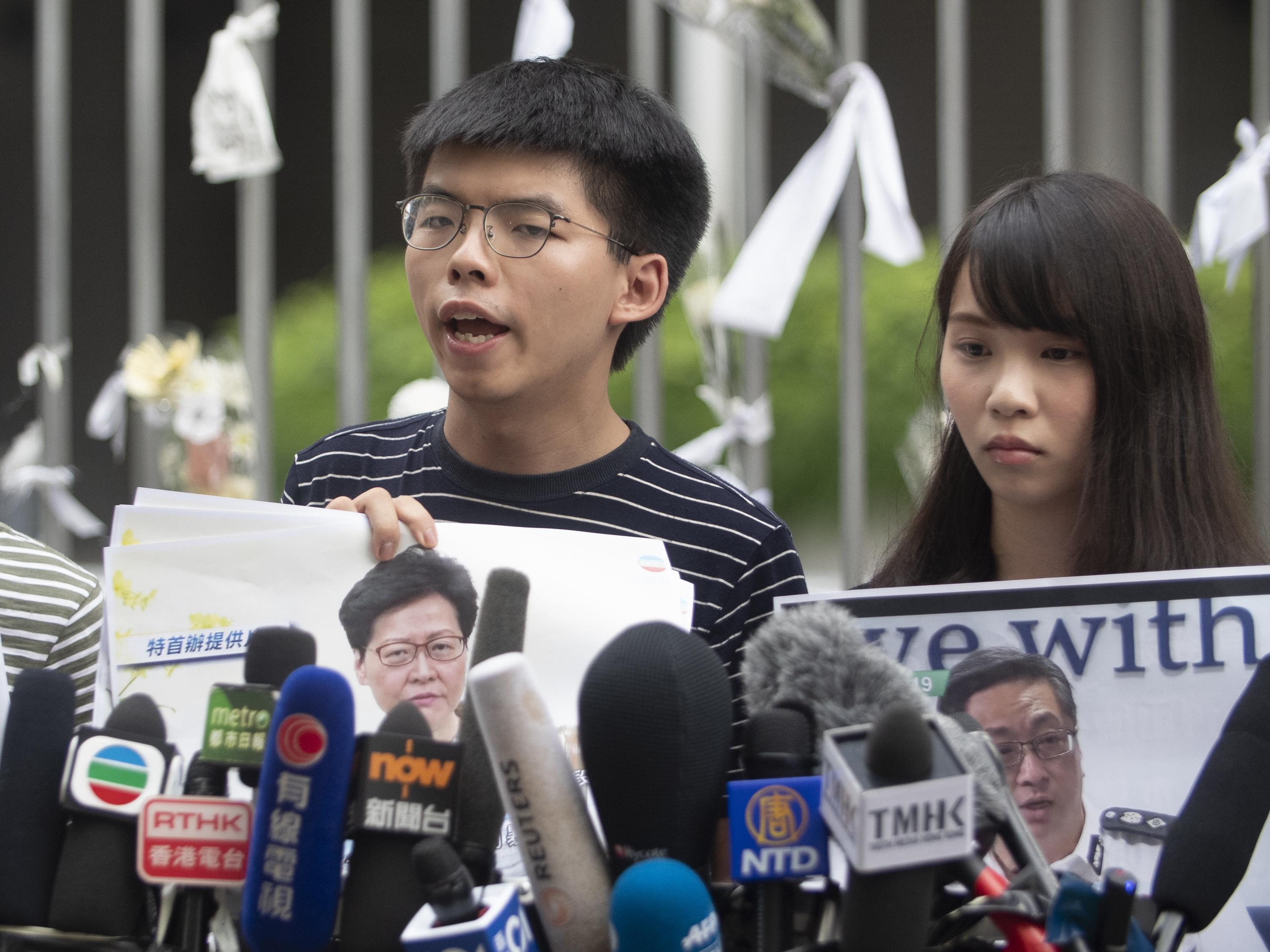 Hong Kong Democracy Activist Joshua Wong Granted Bail After Arrest
