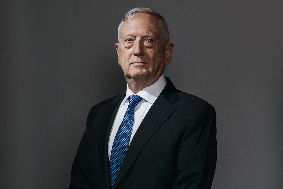 James Mattis spent four decades in the Marines. He served as a commander in Afghanistan shortly after the al-Qaida attacks in 2001. (Celeste Sloman for NPR)