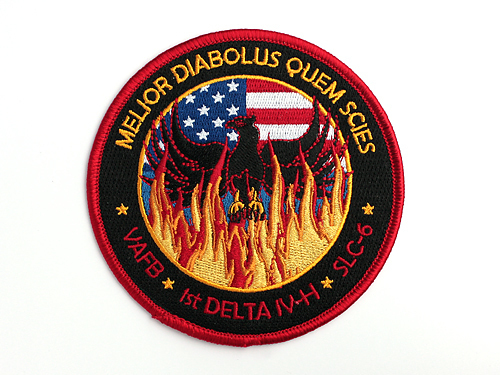 "The mission patch for the USA 224/NROL-49 satellite includes the Latin phrase ""better the devil you know."""