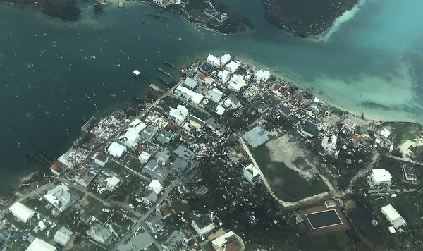 Damage is seen from Hurricane Dorian in the Bahamas.
