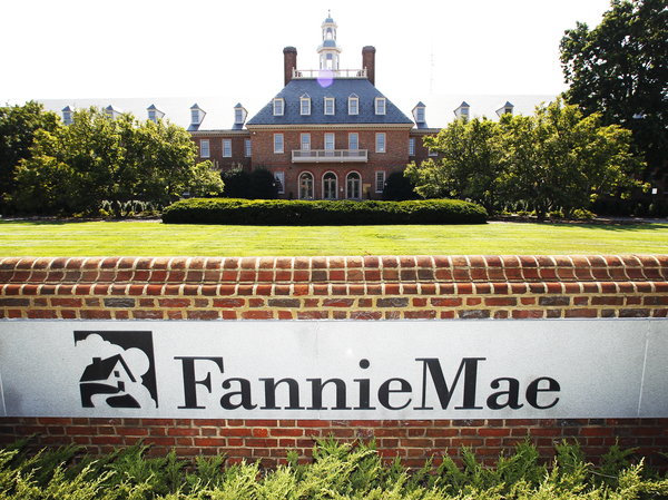 The Fannie Mae headquarters in Washington. The mortgage giants Fannie Mae and Freddie Mac guarantee about half of all home loans in the U.S.