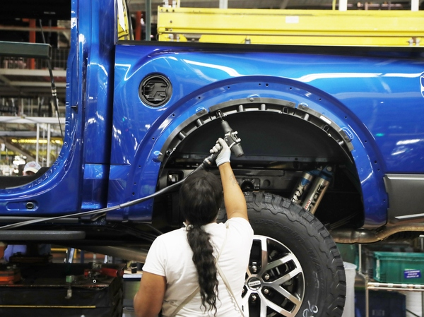 The manufacturing sector has seen a slowdown amid the continuing U.S. trade war with China.