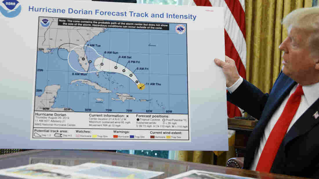 Trump's Altered Dorian Map Shows Storm Threatening Alabama