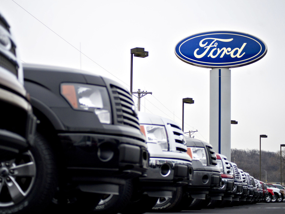 Ford Motor Co., BMW, Honda and Volkswagen received letters from the Justice Department about a deal they entered with California earlier this year for reducing vehicle emissions. (Bloomberg/Bloomberg via Getty Images)