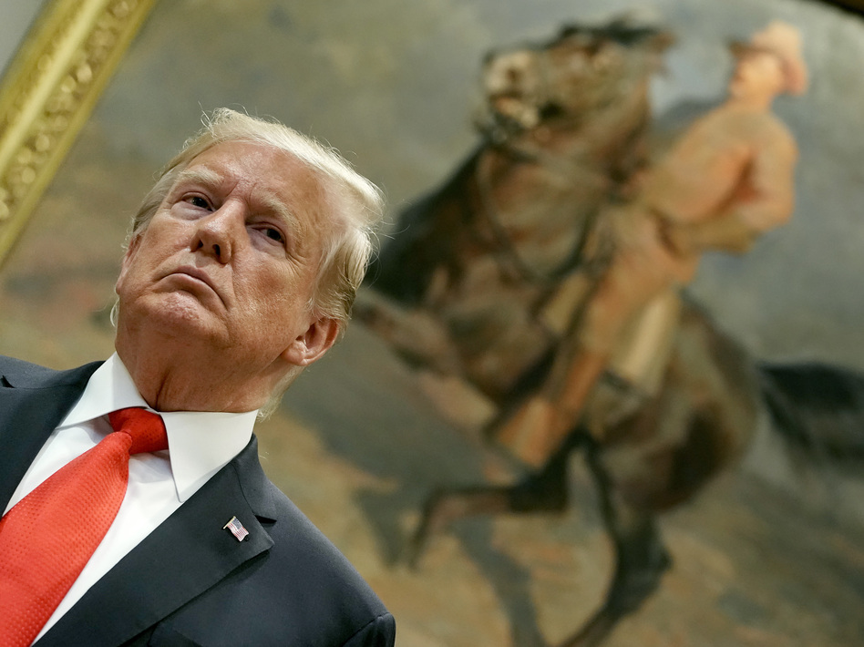 President Trump says he called off talks with the Taliban and Afghan leaders at Camp David. Above, he speaks in the White House's Roosevelt Room on Sept. 4. (Chip Somodevilla/Getty Images)