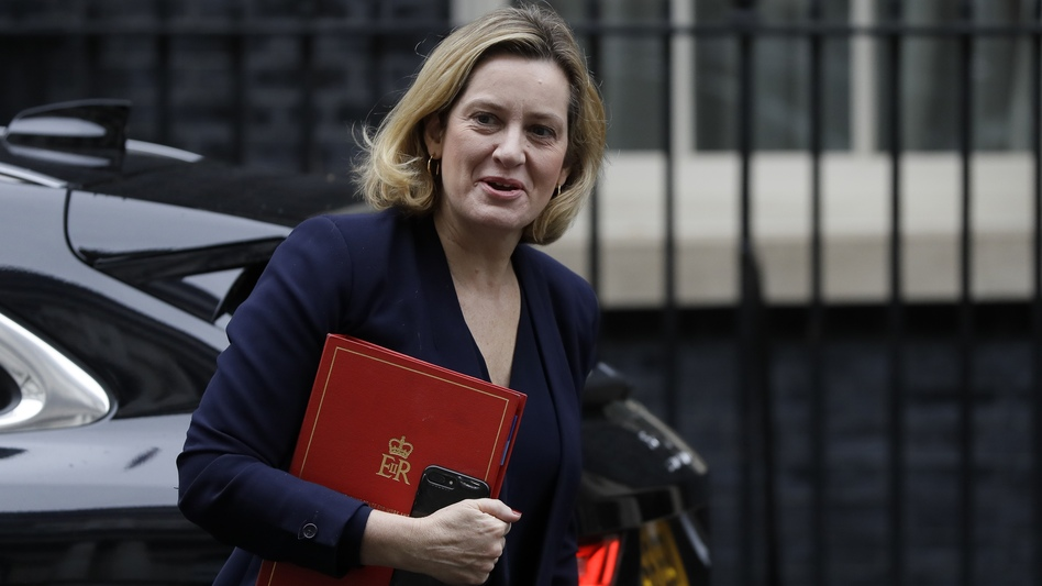 "Amber Rudd has resigned as Work and Pensions Secretary, accusing British Prime Minister Boris Johnson of an ""assault on decency and democracy."" (Kirsty Wigglesworth/AP)"