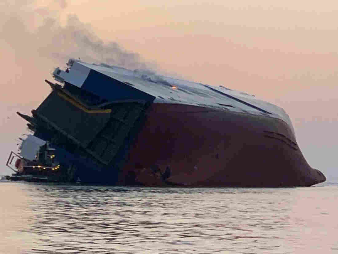 20 rescued, 4 missing after cargo ship tips off coast of Georgia