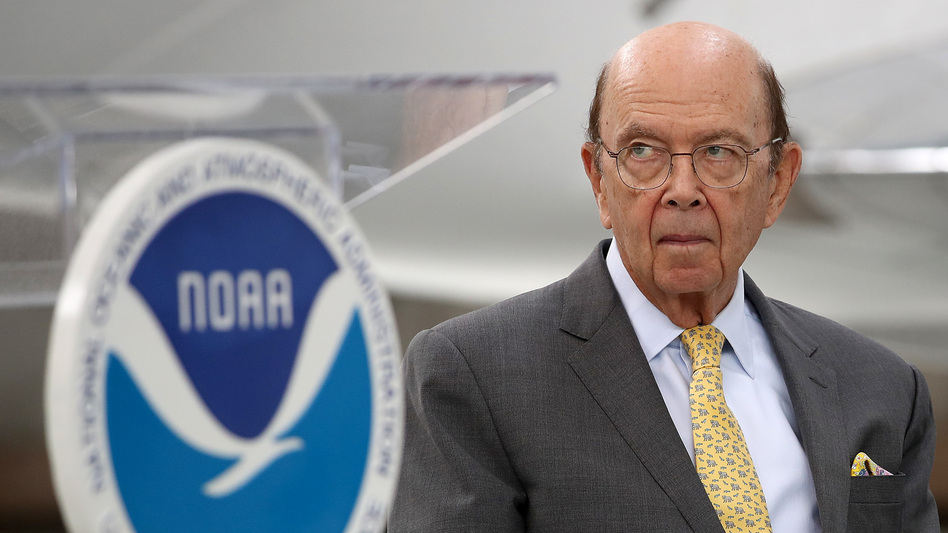 Commerce Secretary Wilbur Ross is under the microscope for reportedly pressuring government scientists to back President Trump over a misleading tweet about Hurricane Dorian. (Win McNamee/Getty Images)