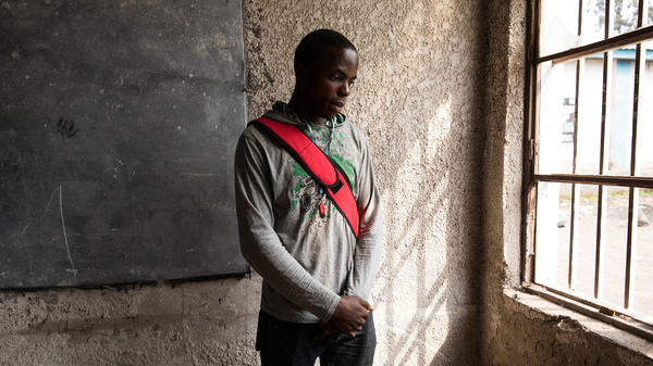 Samuel Swedi, 22, is an electrical engineering student at Goma University in the Democratic Republic of Congo. He doesn