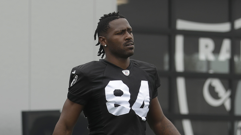 Wide receiver Antonio Brown was sued in federal court by his former trainer who claims Brown sexually assaulted and raped her. As the NFL investigates, the Patriots say they are standing by Brown. (Jeff Chiu/AP)