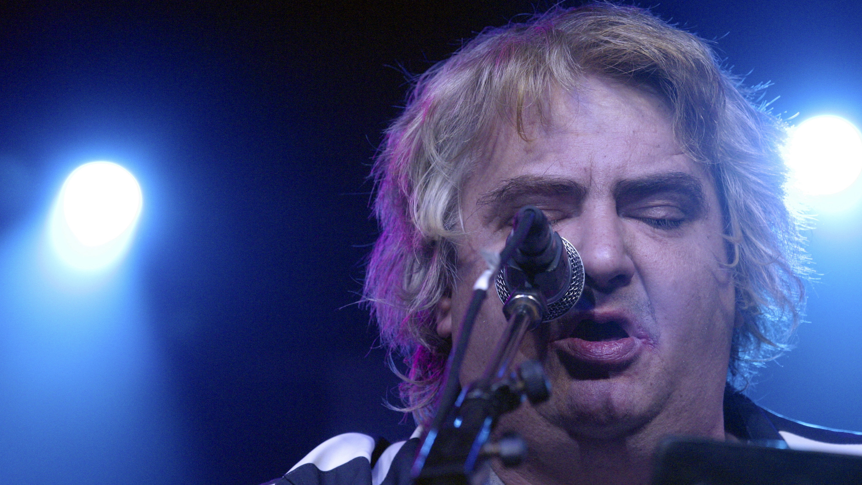 Singer, songwriter and visual artist Daniel Johnston performs in Austin, Texas, in 2005. Johnston died on Wednesday.