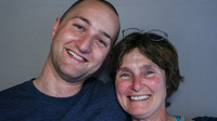 Ian Bennett and his mom, Connie Mehmel, at StoryCorps in 2009.