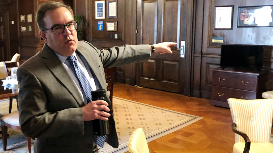 EPA Administrator Andrew Wheeler says the repeal of Obama-era water rules will end an overreach by the federal government. (Timothy Gardner/Reuters)