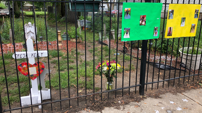 Residents, Activists Gather At Spot Where Pregnant Teen Was Killed