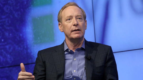 """Microsoft President Brad Smith says governments need to set rules for big technology companies. """"Almost no technology has gone so entirely unregulated, for so long, as digital technology,"""" he says."""