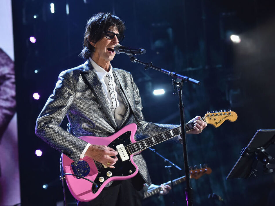 Ric Ocasek of The Cars, performing at the group's induction ceremony into the Rock & Roll Hall of Fame in 2018. Ocasek died Sunday. (Kevin Mazur/Getty Images For the Rock & Roll Hall of Fame)