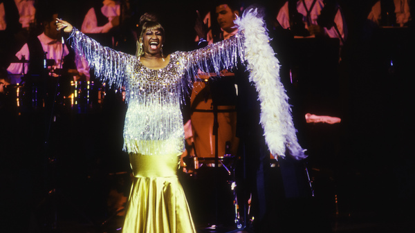 Celia Cruz performs in New York in 1995. That same year, Deborah Paredez saw her at Chicago
