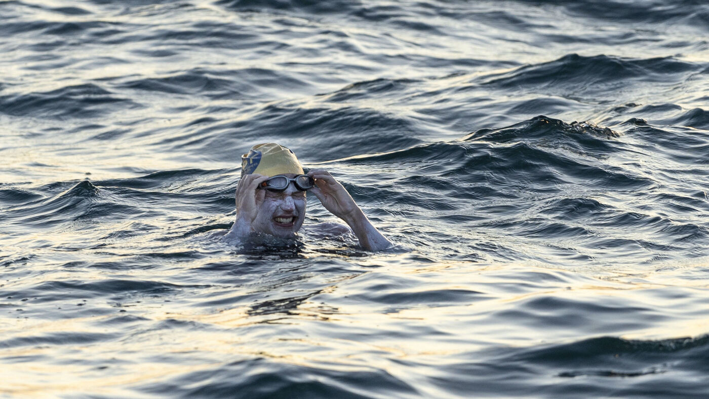 American Becomes 1st Person To Swim English Channel 4 Times Without Stopping Npr