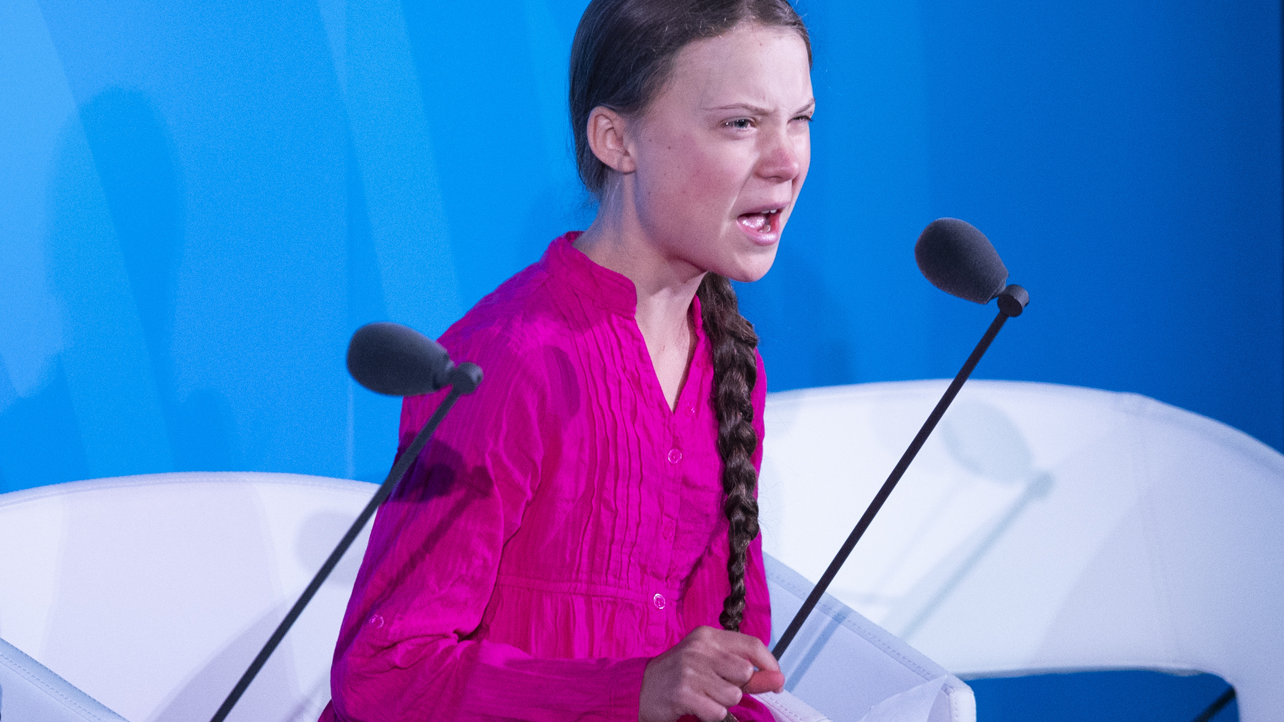 """""""We'll be watching you,"""" Thunberg told world leaders Monday, speaking at the U.N. Climate Action Summit in New York City."""