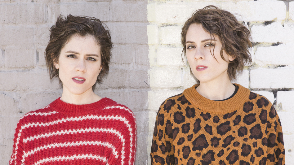 Identical twins Sara (left) and Tegan Quin began making music together as teenagers. (Farrar, Straus & Giroux)