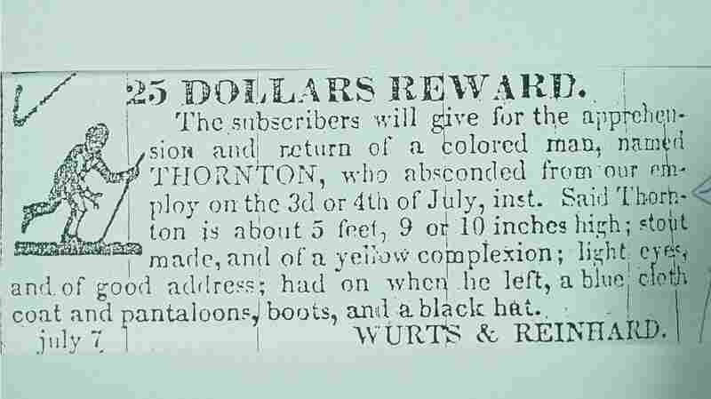 A fugitive slave notice that described Thornton Blackburn's physical appearance.