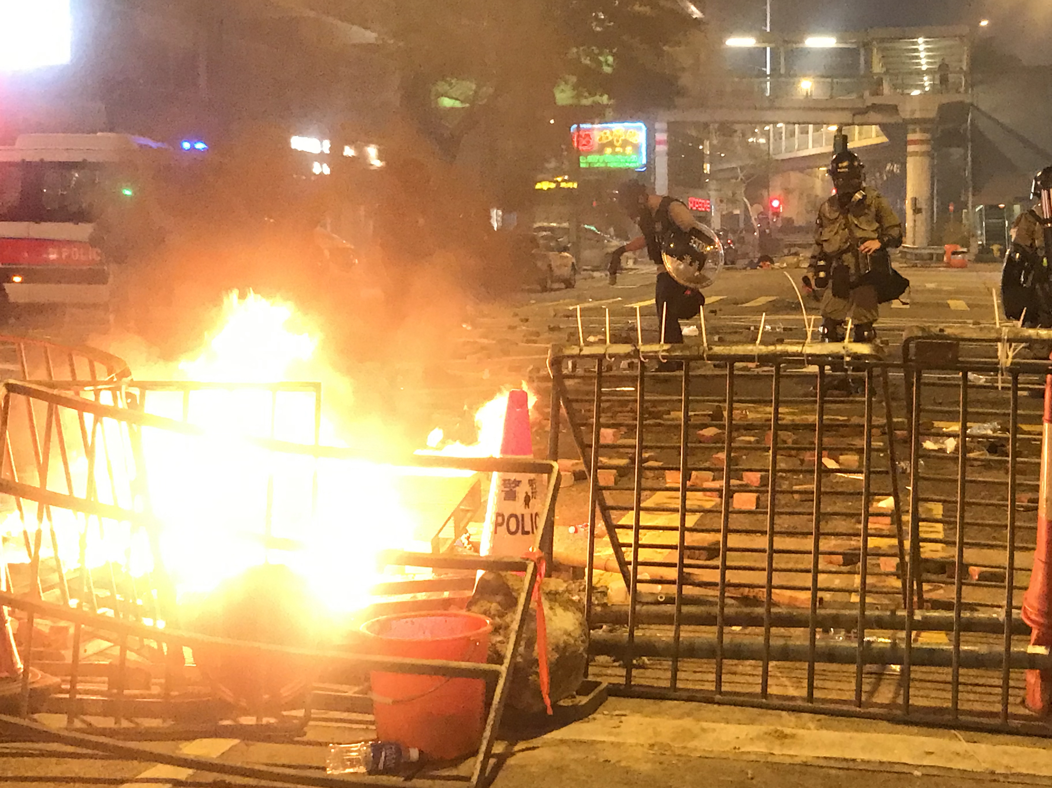 Hong Kong Protests: Chaotic Scenes Unfold In Streets Ahead