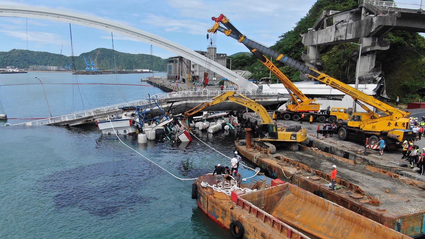 WATCH: Bridge Collapses In Taiwan And Oil Tanker Crashes To The Ground