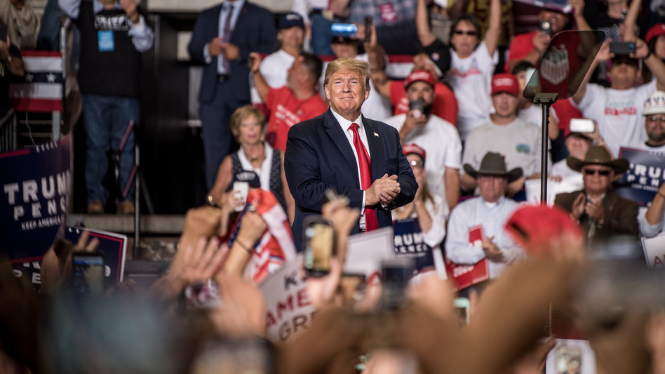 President Trump at his Keep America Great rally last month in Rio Rancho, N.M. (Cengiz Yar/Getty Images)