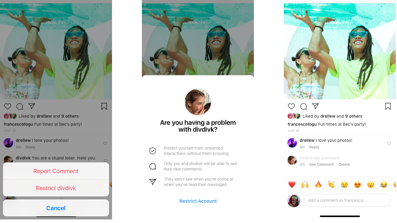 Instagram Rolls Out Restrict Feature To Control Bullies Comments Npr