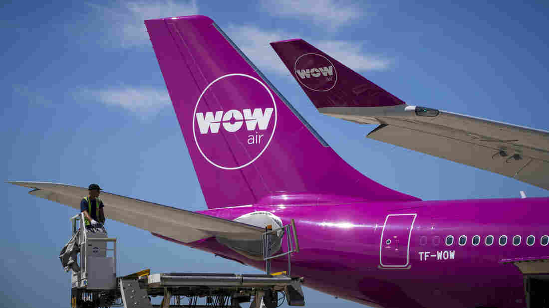 A picture taken on August 6, 2018 shows a Wow plane on the tarmac of Roissy-Charles de Gaulle Airport, north of Paris (Photo by JOEL SAGET / AFP) (Photo credit should read JOEL SAGET/AFP/Getty Images)