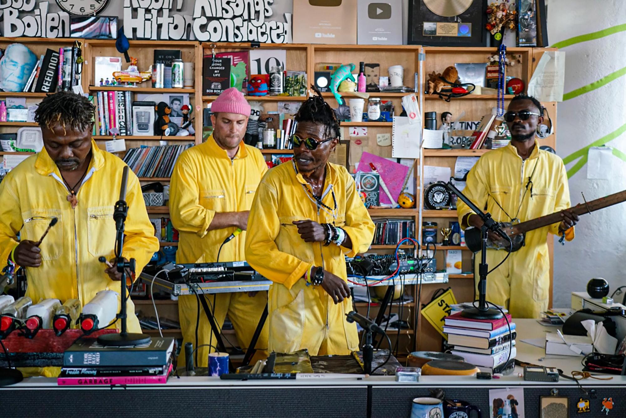 Congo's KOKOKO! Makes Joyful Dance Music From Instruments Made Of Junk