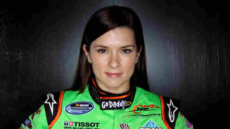 Danica Patrick poses at Daytona International Speedway on Feb. 10, 2011 in Daytona Beach, Fla.