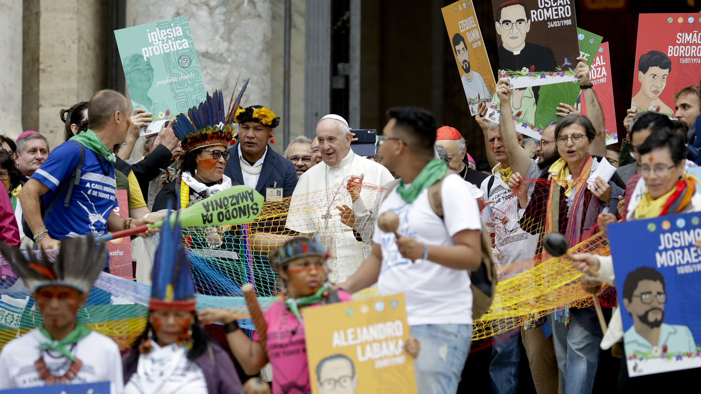 Pope Opens Amazon Synod Amid Controversy Over Proposal To Allow Married Priests - NPR