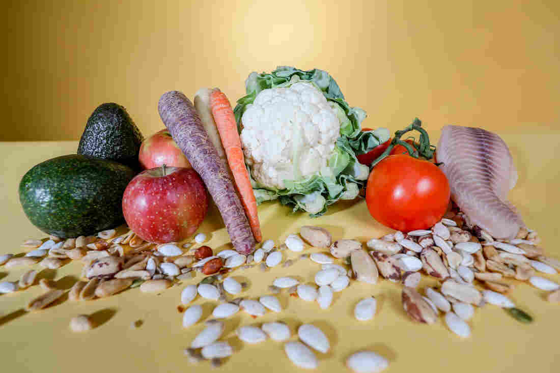 For a healthy diet, try to eat more nuts, seeds, fruits, vegetables, healthy fats and omega-3 fatty acids.