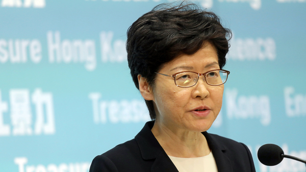 Hong Kong s Leader Warns  No Options Ruled Out  If Protests Continue