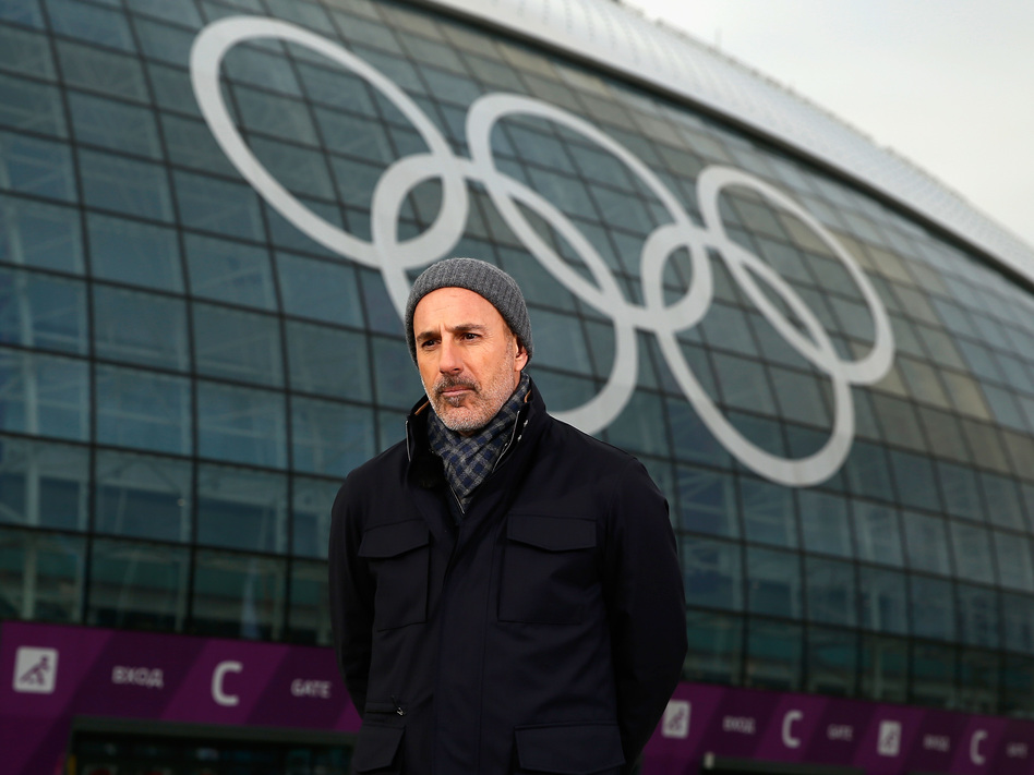 Matt Lauer, seen reporting for the NBC <em>Today</em> show at the 2014 Winter Olympics in Sochi, Russia, where the sexual assault described in Ronan Farrow's new book is alleged to have taken place. (Scott Halleran/Getty Images)