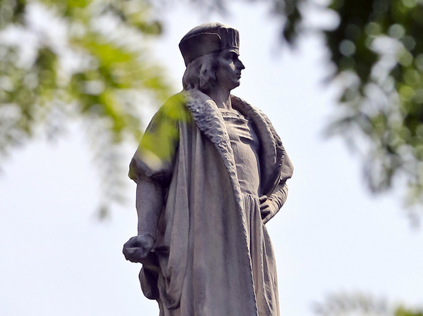 For many Italian Americans, Columbus Day is about celebrating Italian heritage and the contributions of Italian Americans to the United States. Above, the Christopher Columbus statue at Manhattan's Columbus Circle in New York.