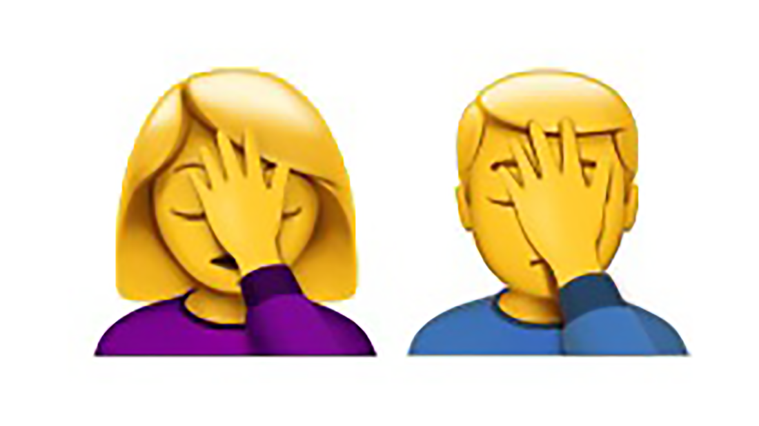 Facepalm emoji.