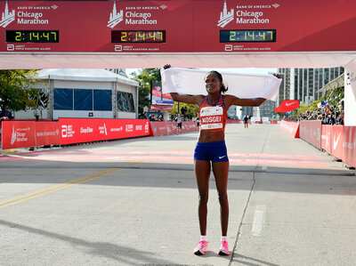 Kenyan Brigid Kosgei Smashes Women's World Record At Chicago Marathon